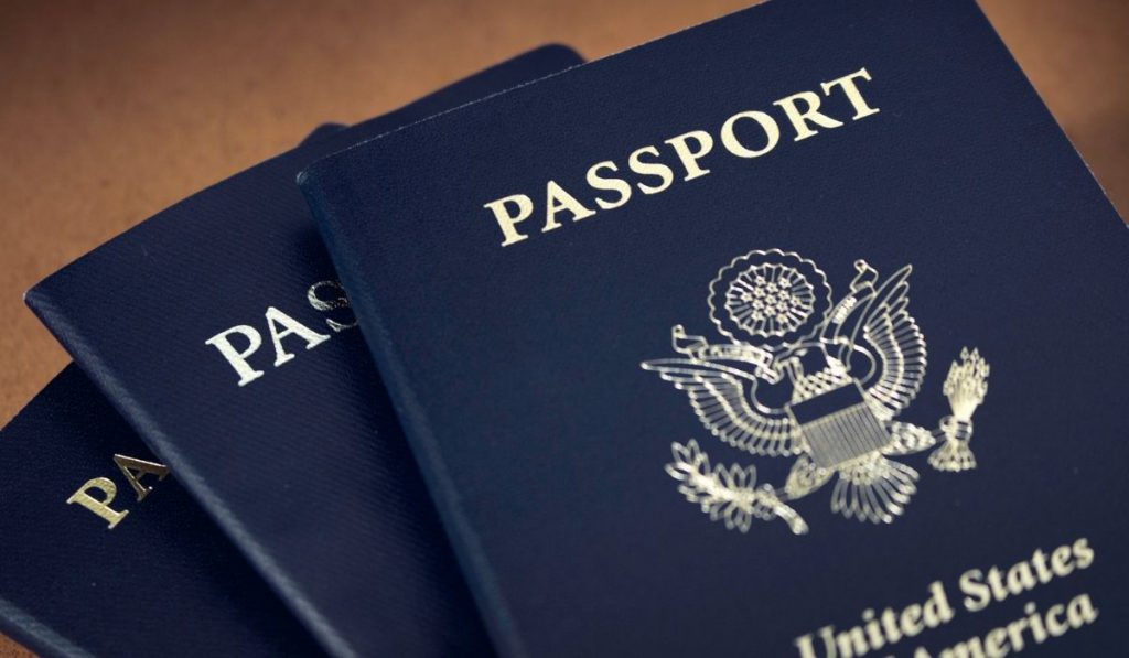 3 blue passports