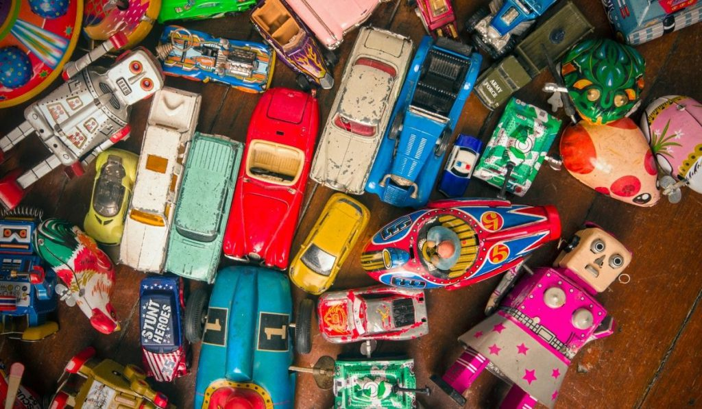 colorful vintage cars
