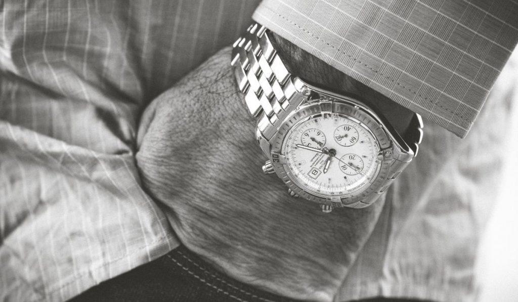 luxury watch -hand inside the pocket 2