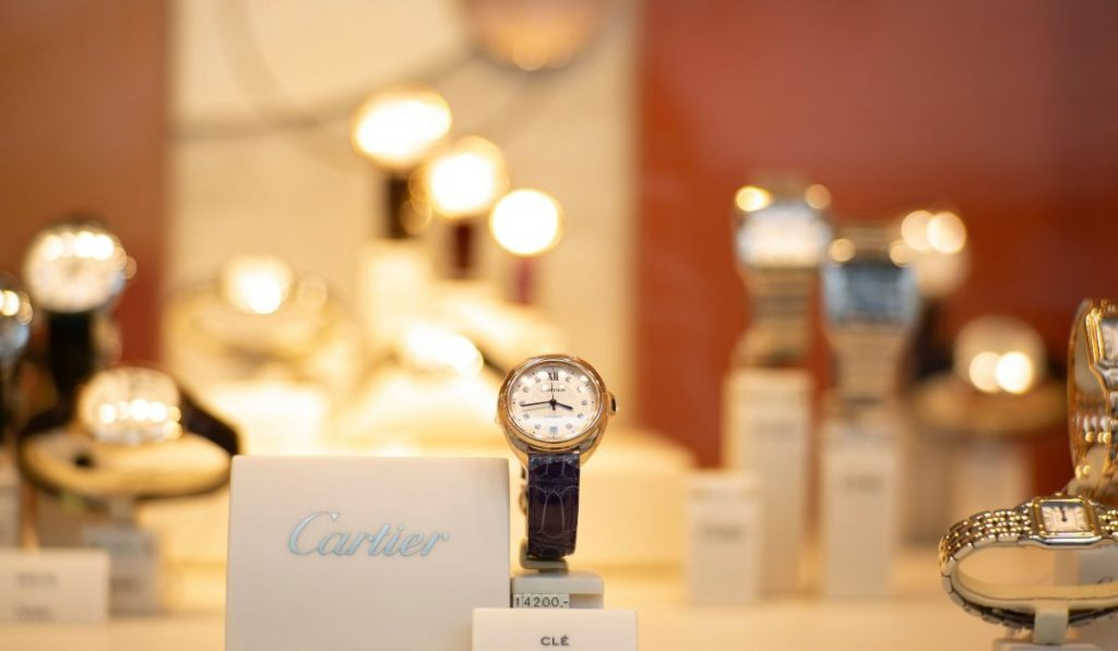 luxury watches in the store