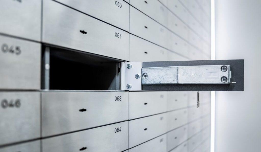 opened safe deposit box