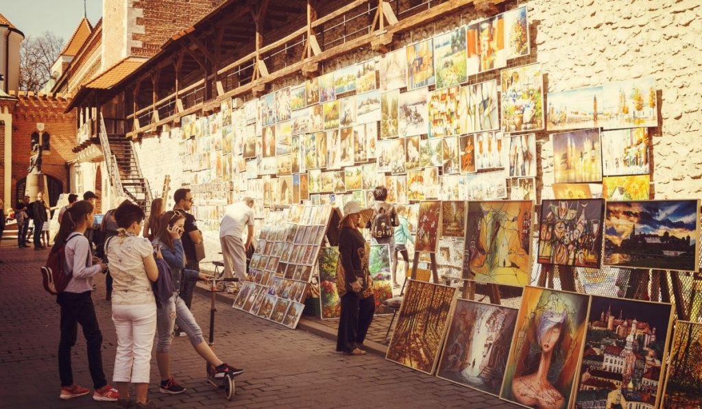paintings on the street